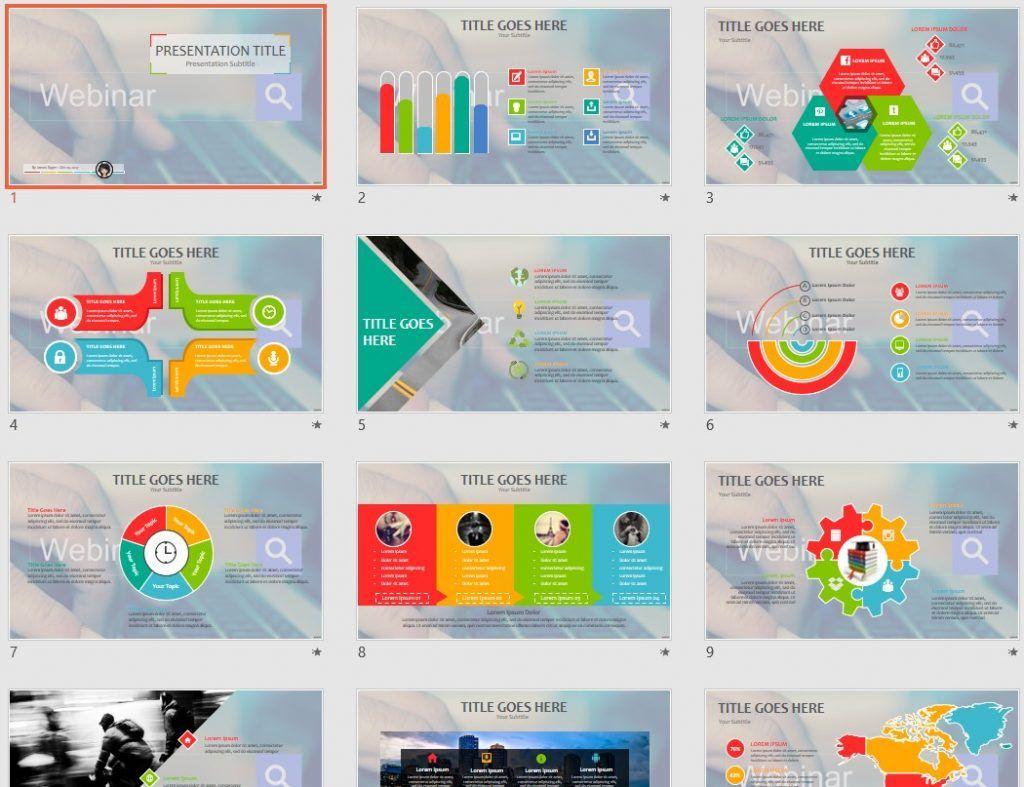 free webinar ppt #73793 | 14105 free powerpoint templates, Presentation templates