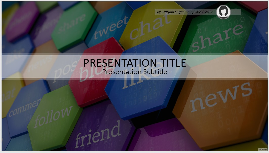 free social media powerpoint template #5579 | 14132 free, Powerpoint templates