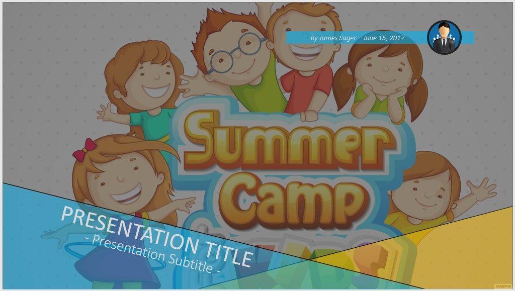 Free summer camp for kids powerpoint 74648 sagefox powerpoint please share this free powerpoint template toneelgroepblik Gallery