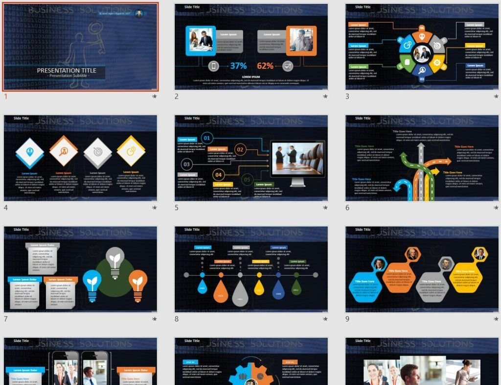 business solutions PowerPoint by SageFox