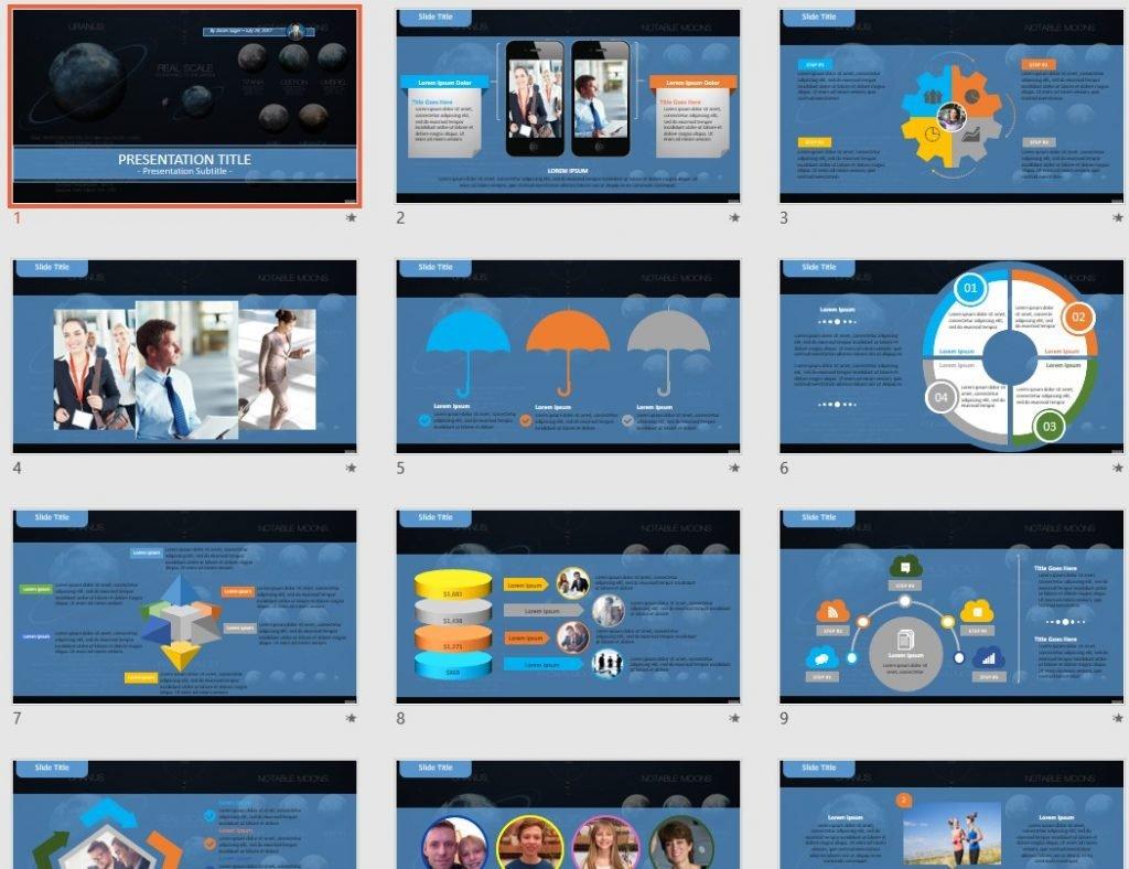 Uranus PowerPoint by SageFox