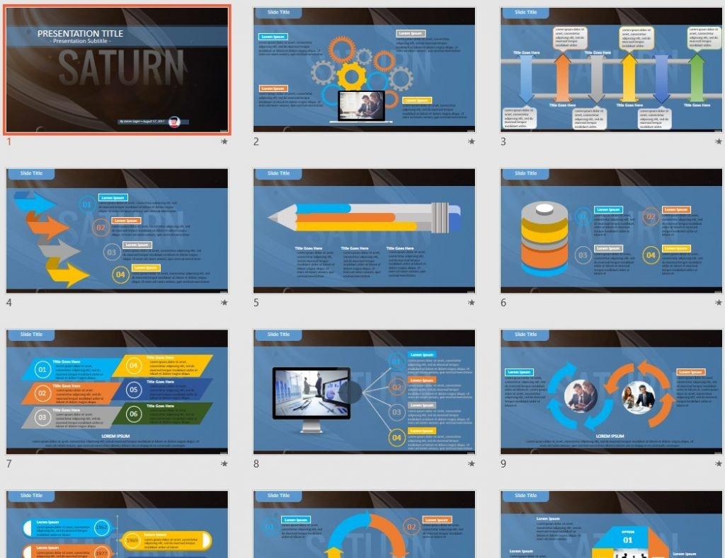 Saturn PowerPoint by SageFox