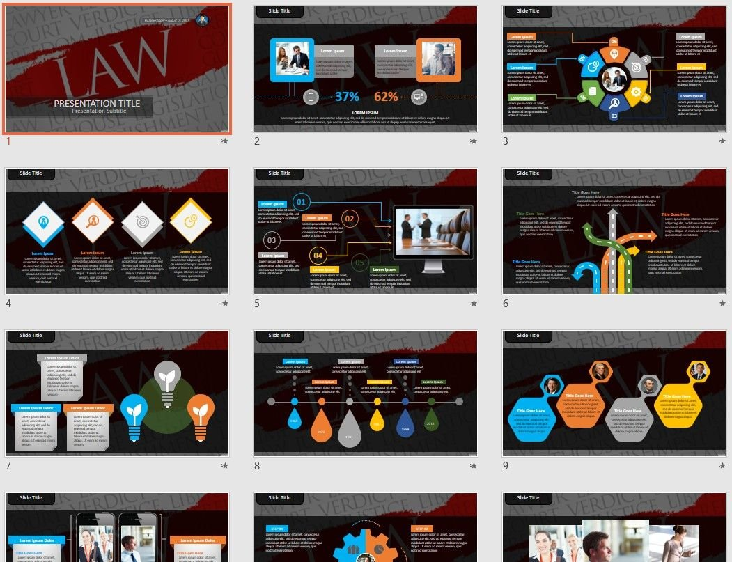 Law Powerpoint Template 74863