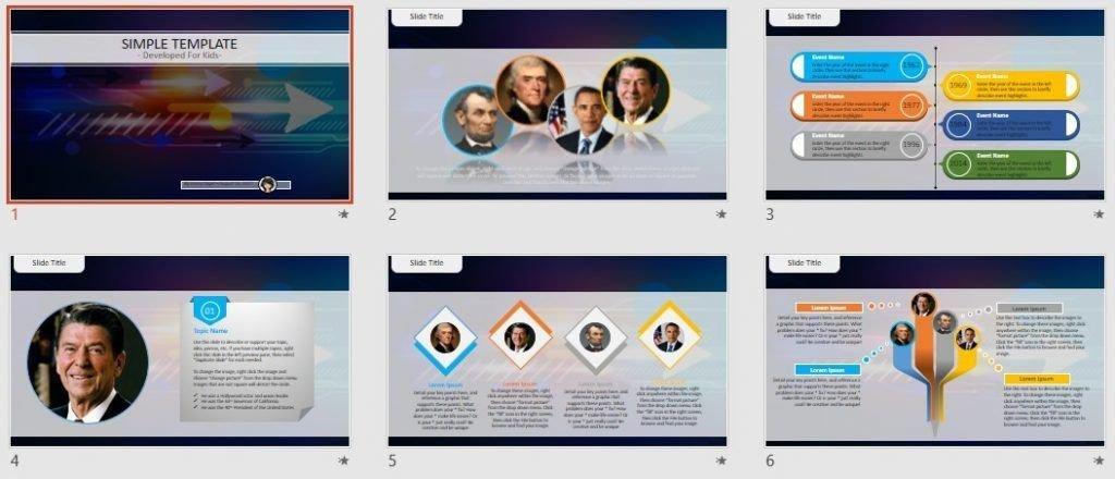 Simple Kids PowerPoint - High tech by SageFox