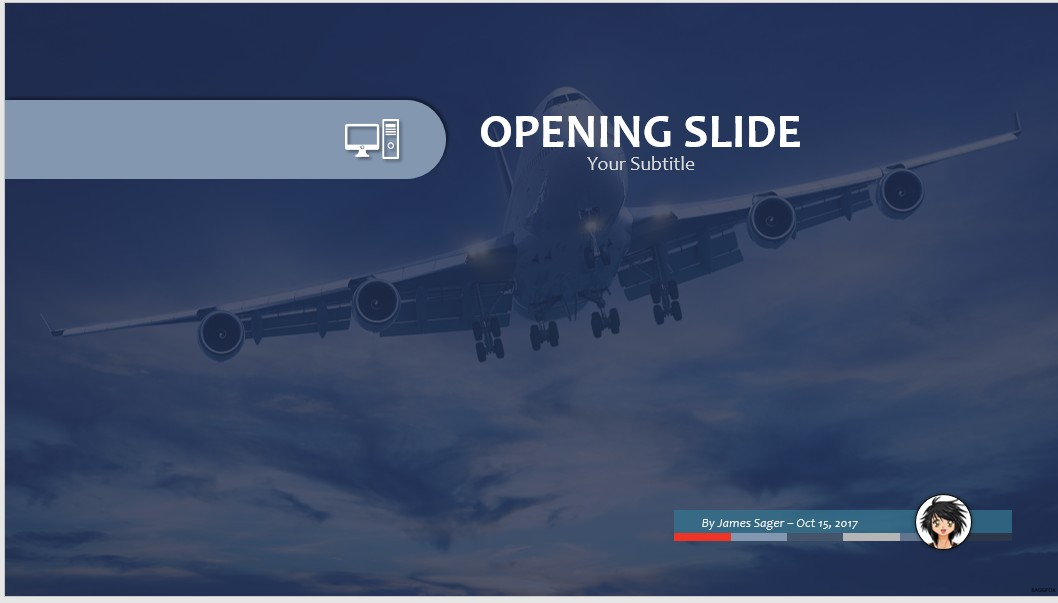 Free commercial airplane ppt 76254 sagefox powerpoint templates by james sager toneelgroepblik Images