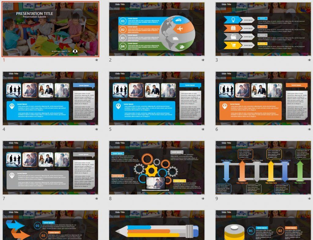Children with teacher PowerPoint by SageFox