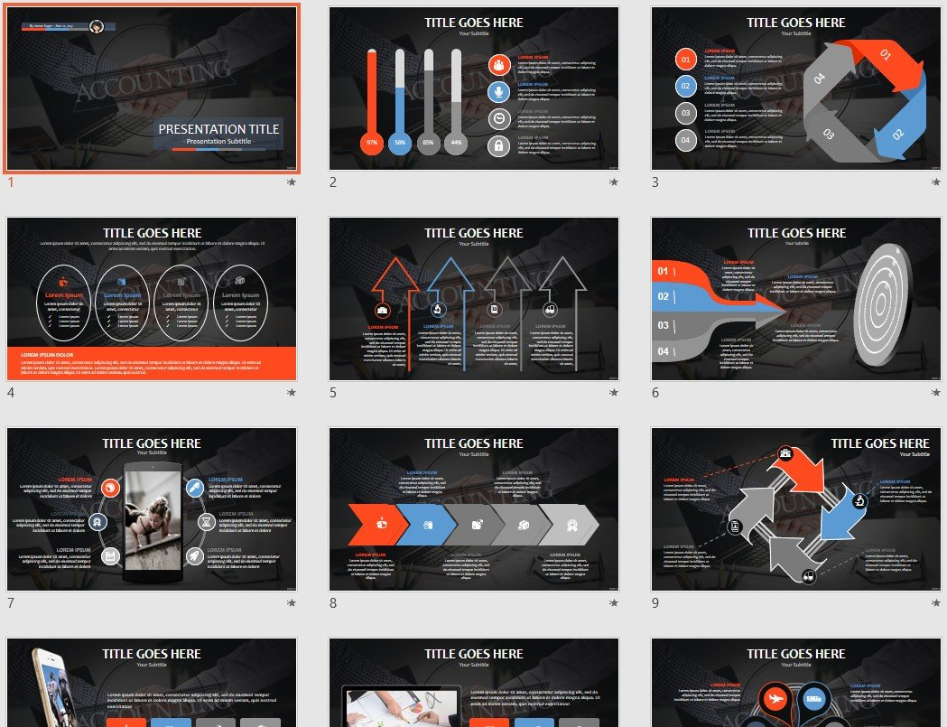 Accounting Powerpoint Template 66048 Sagefox Free Powerpoint