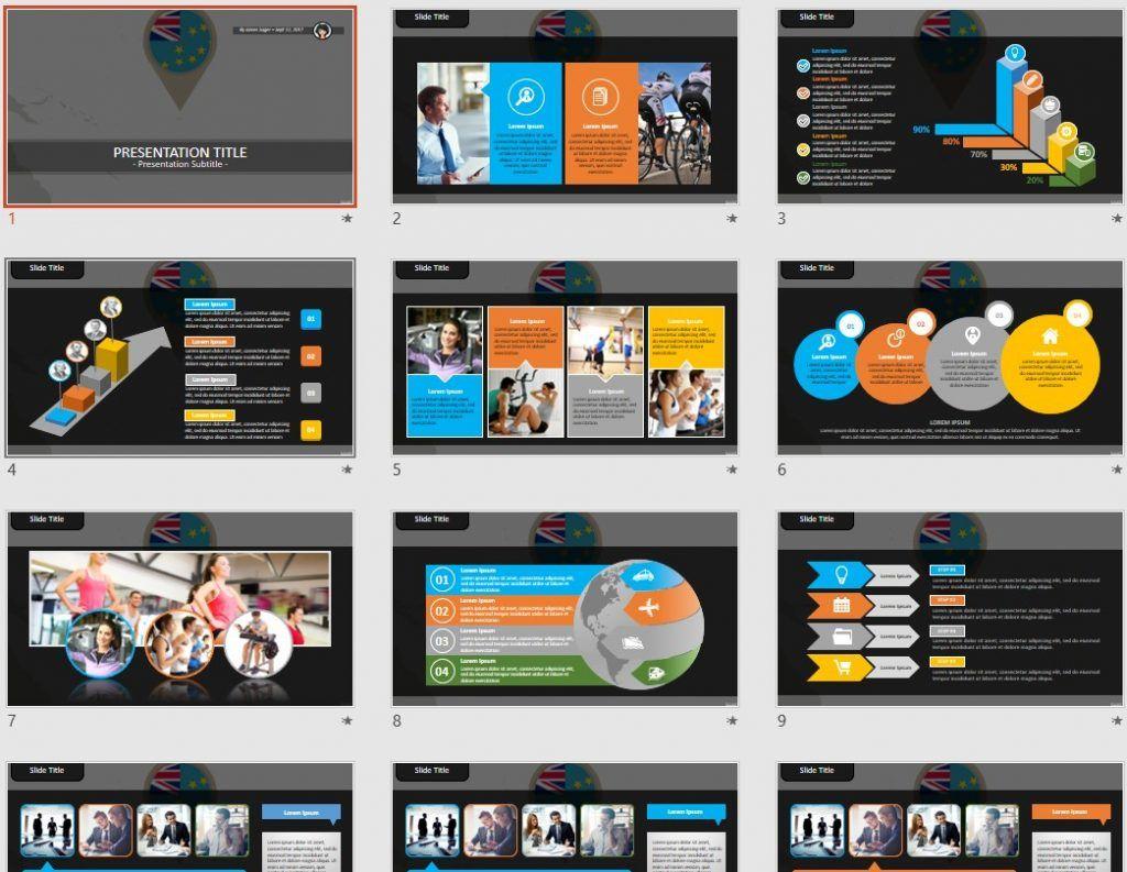 Tuvalu PowerPoint by SageFox