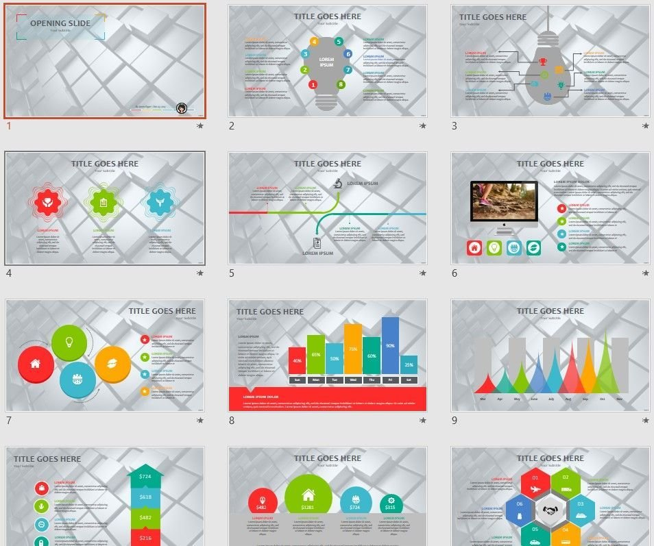 3d cubes PPT by SageFox