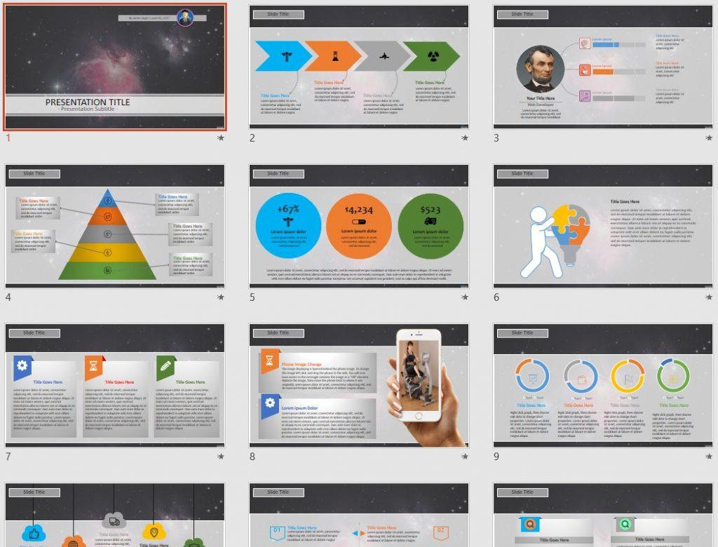 Grate Nebula PowerPoint by SageFox