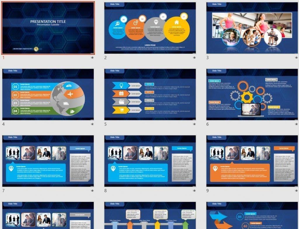 hexagons PowerPoint by SageFox
