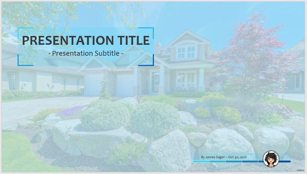 Free landscape design PPT #77183 | SageFox PowerPoint ...