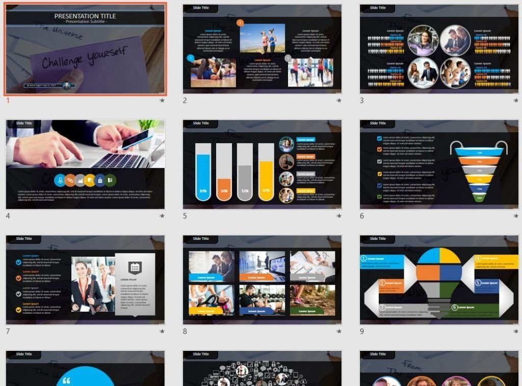 challenge yourself PowerPoint by SageFox