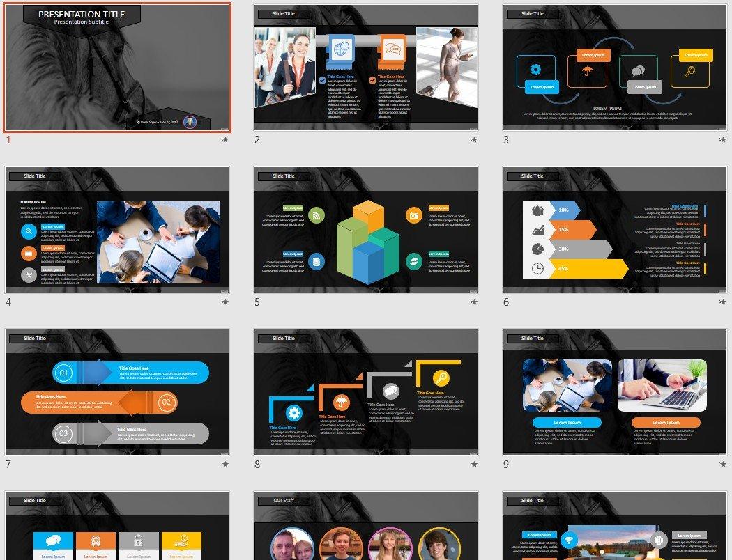 Free Horse Powerpoint 77223 Sagefox Free Powerpoint Templates