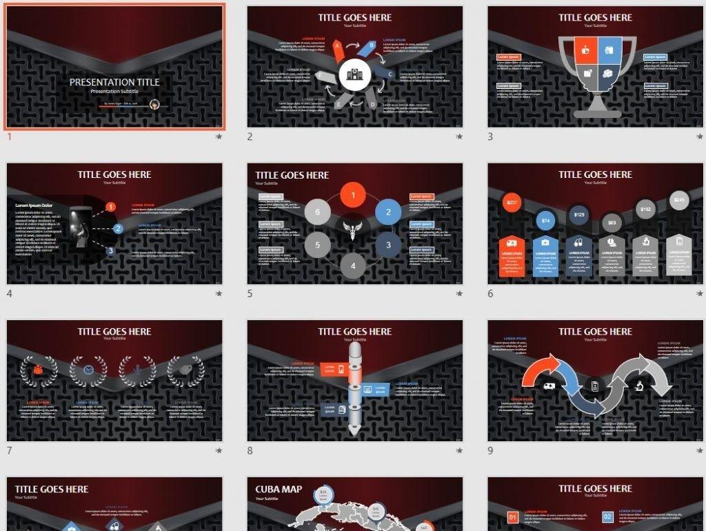 Metal grid PPT by SageFox