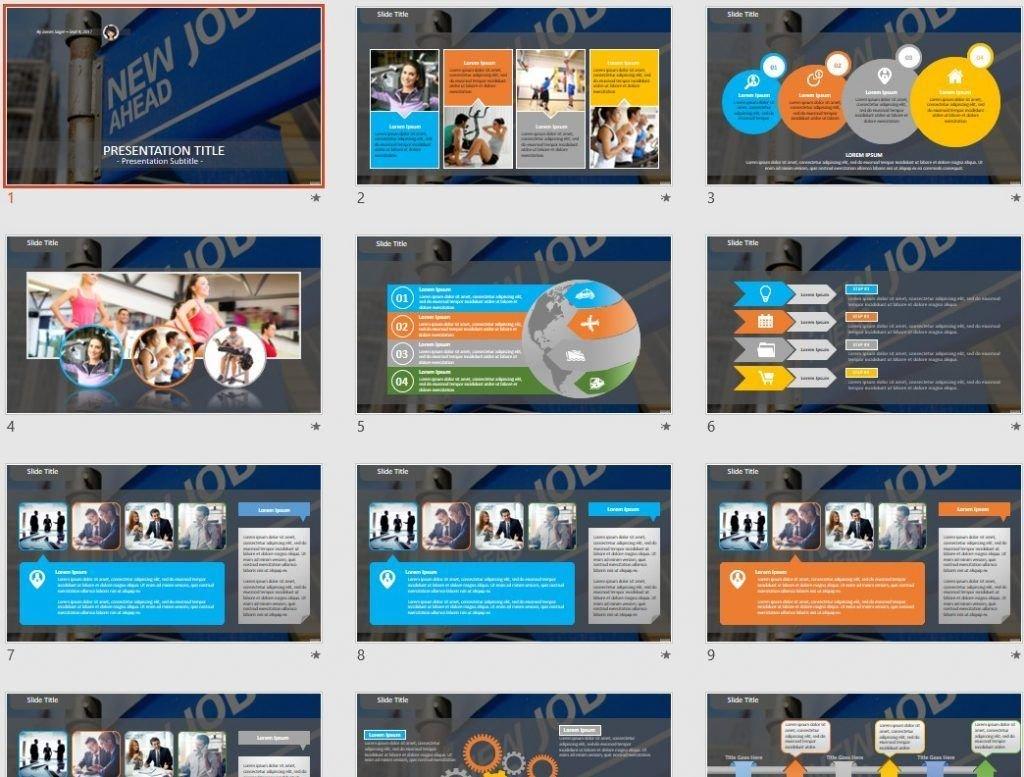 New Job Ahead PowerPoint by SageFox