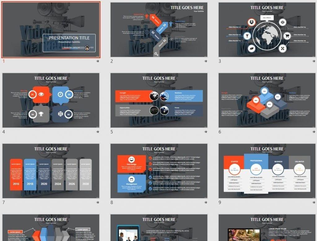 Video Marketing PowerPoint by SageFox
