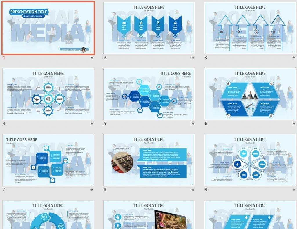 Social Media PPT by SageFox