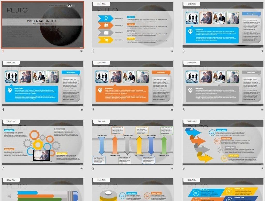 Pluto PowerPoint by SageFox
