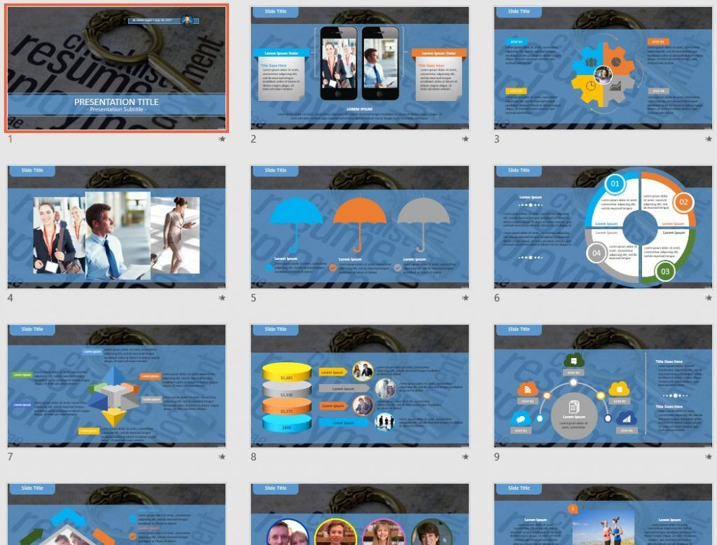 resume PowerPoint by SageFox