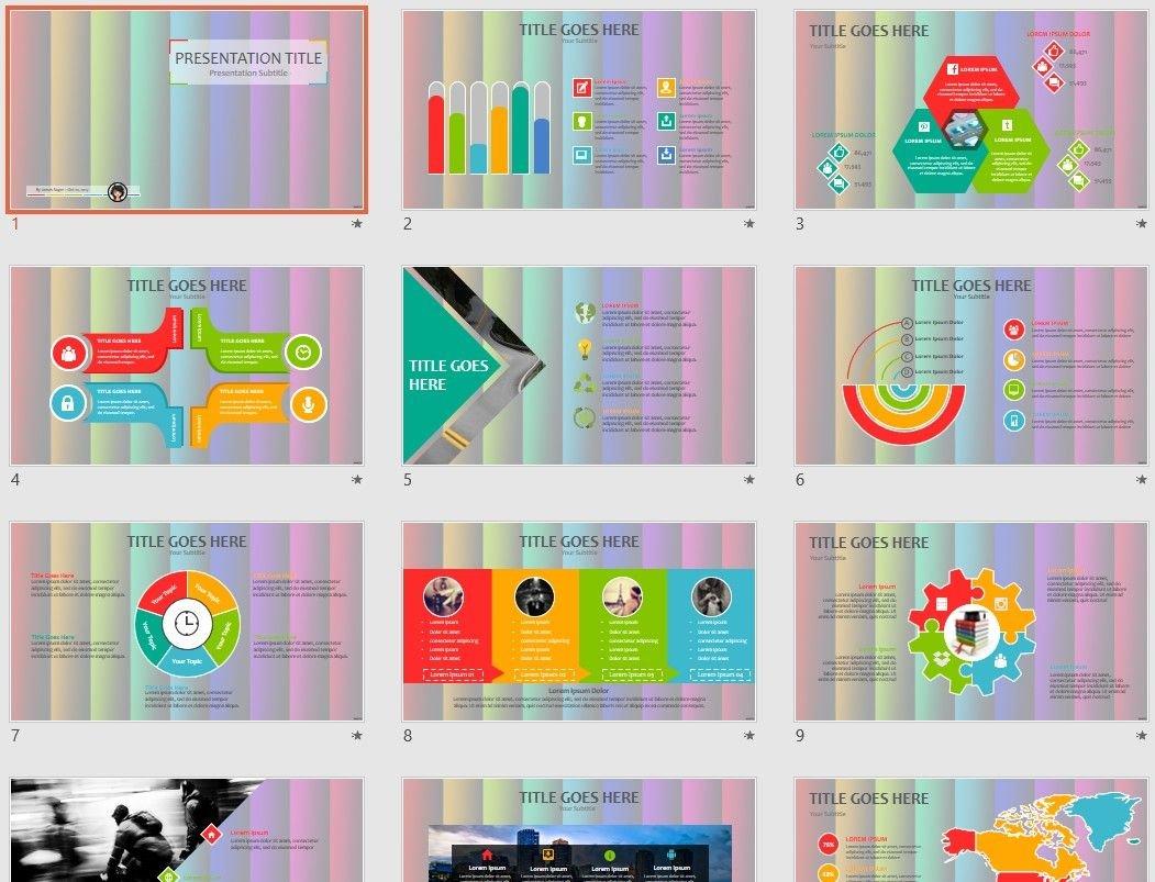 Free Rainbow Colors Powerpoint 76832 Sagefox Free Powerpoint