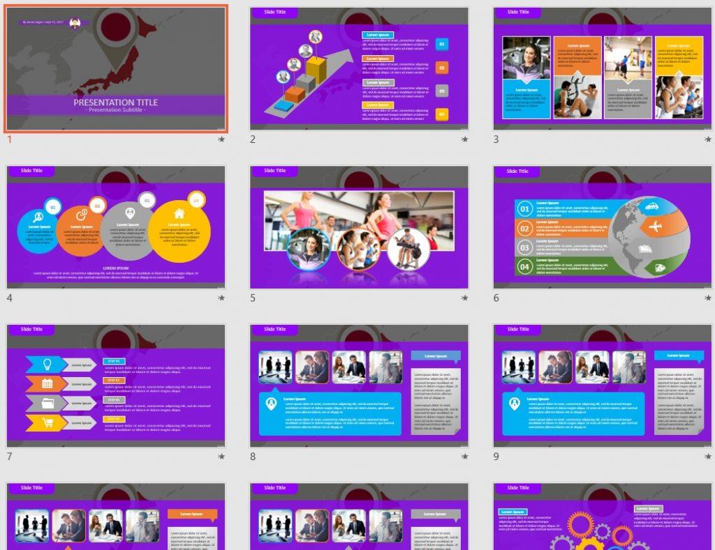 Japan PowerPoint by SageFox