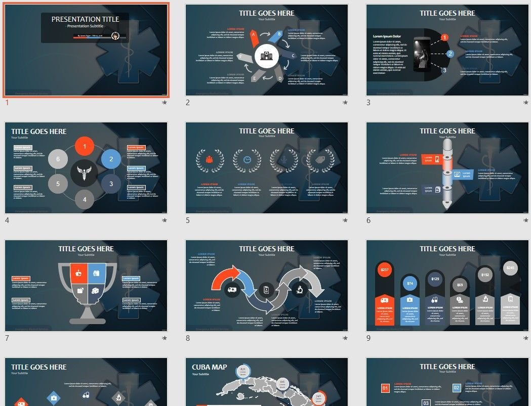 Emergency medical services powerpoint template | professional.