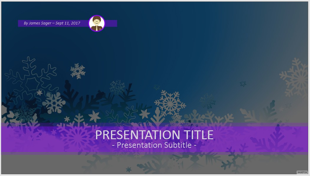free snowflakes powerpoint #79824 | 14132 free powerpoint, Modern powerpoint