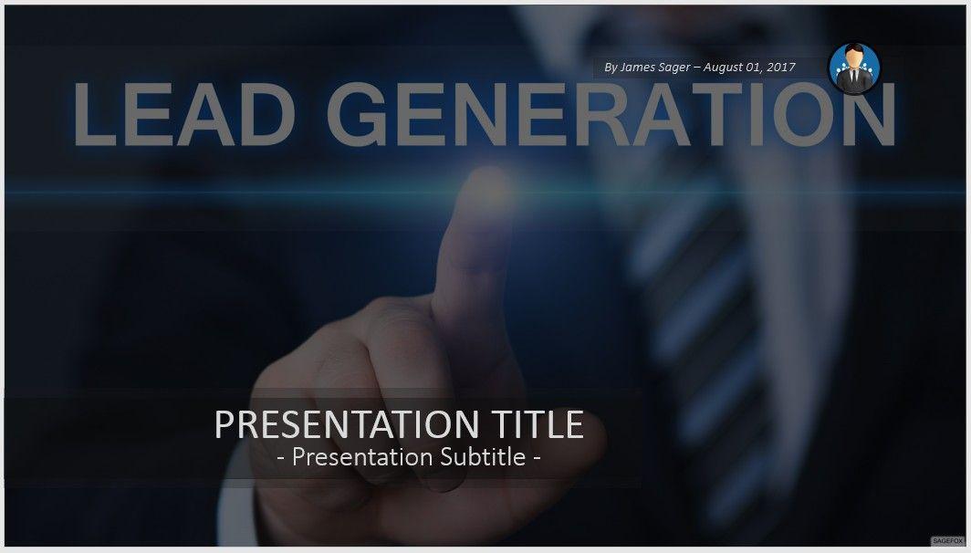 free lead generation powerpoint 81078 sagefox powerpoint templates. Black Bedroom Furniture Sets. Home Design Ideas
