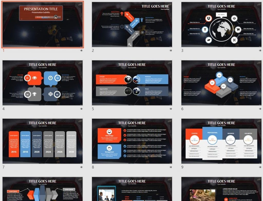hockey PowerPoint by SageFox
