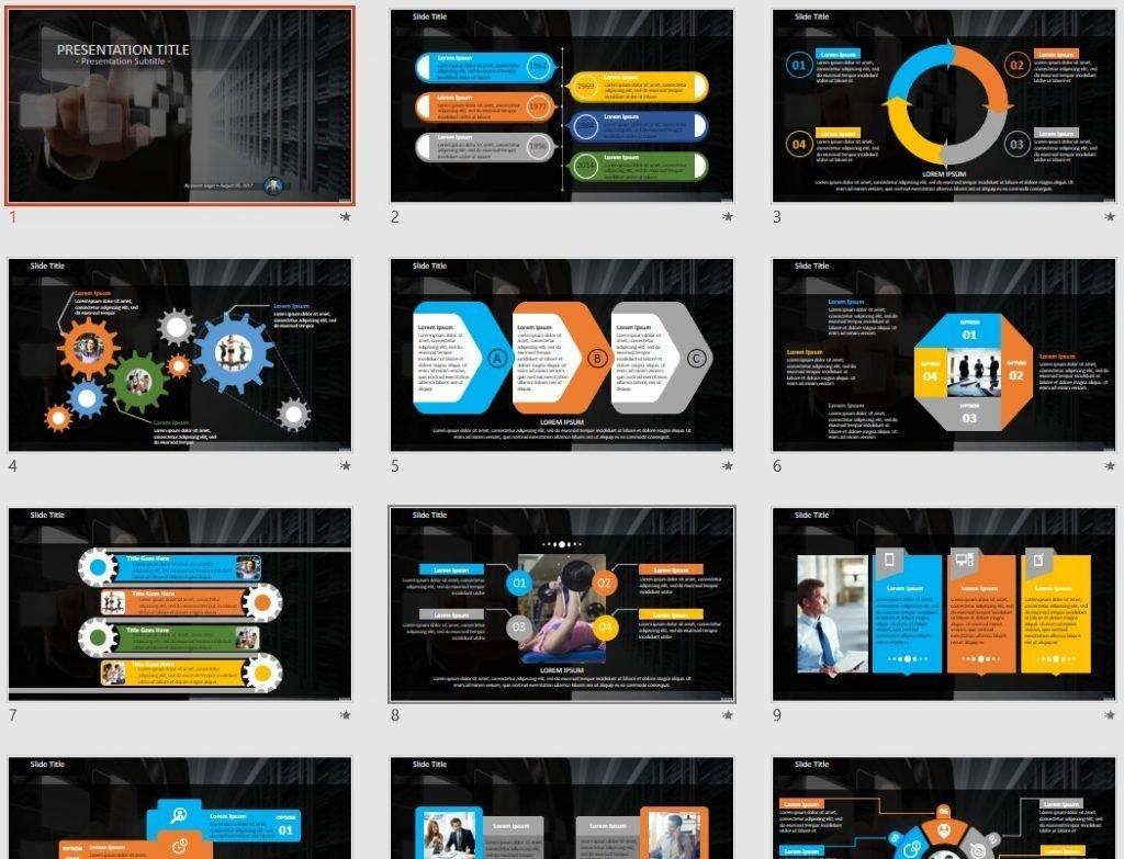 Server management PowerPoint by SageFox
