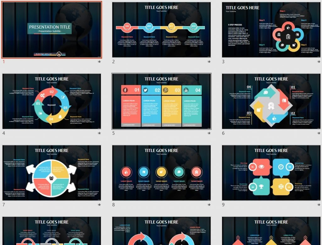 Abstract business PowerPoint by SageFox