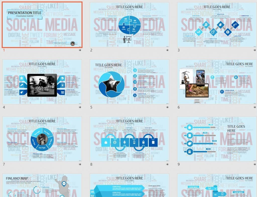 Social Media PPT by SageFox