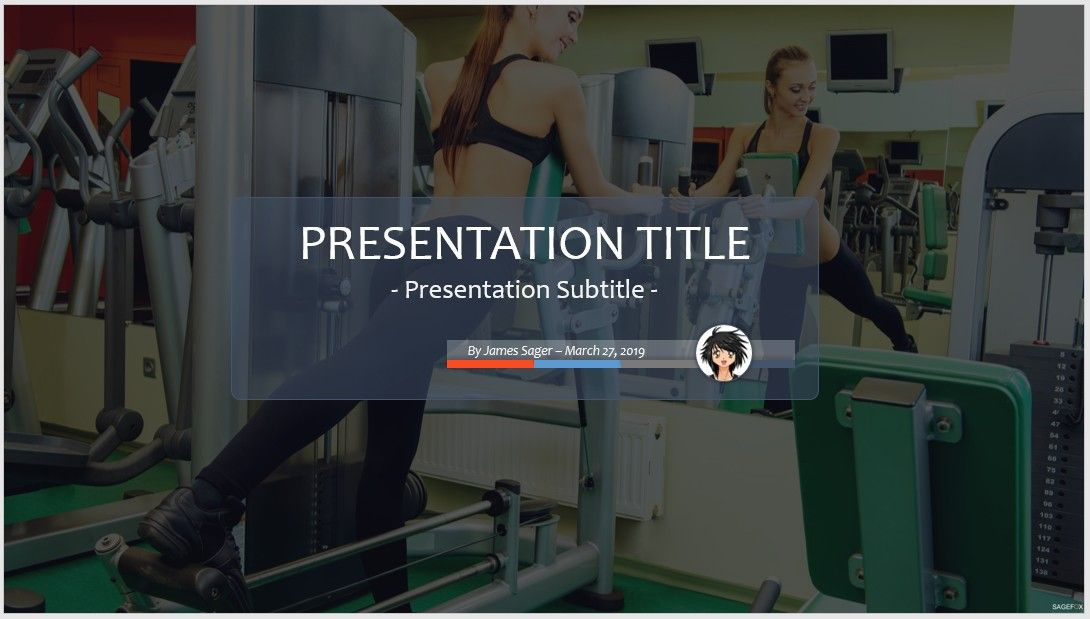 free workout powerpoint #81655 | 13831 free powerpoint templates, Modern powerpoint