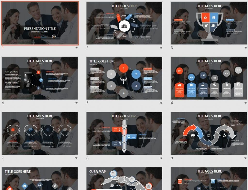 Business handshake PPT by SageFox
