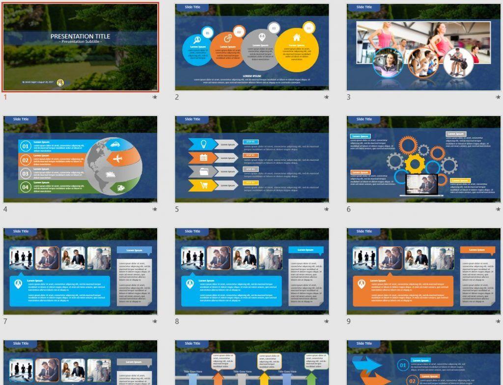 landscape design PowerPoint by SageFox