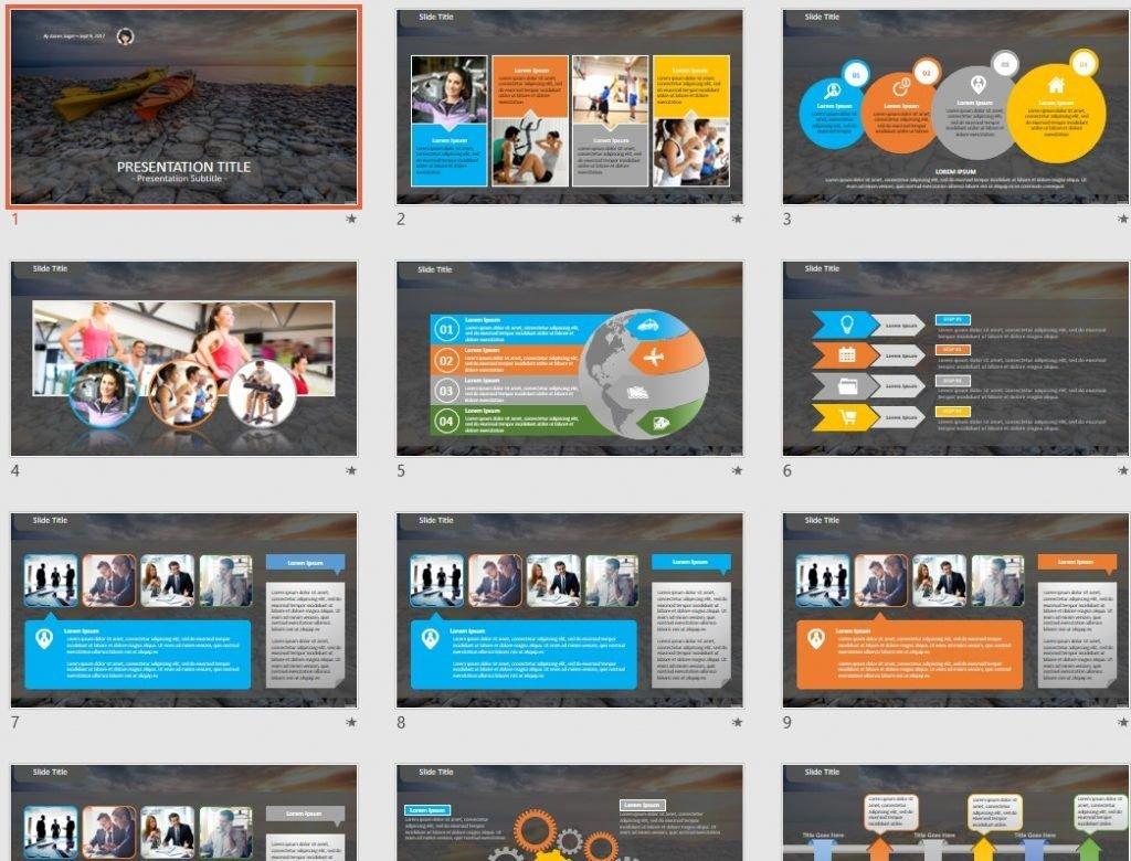 Kayak PowerPoint by SageFox