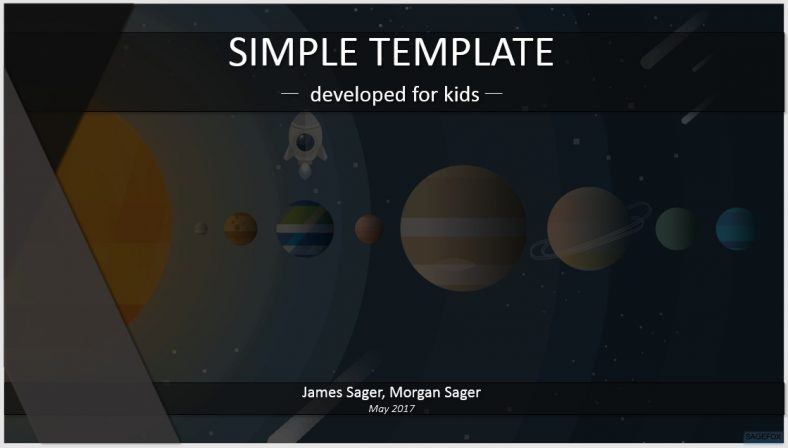 free simple kids powerpoint solar system cartoon 82685 sagefox powerpoint templates. Black Bedroom Furniture Sets. Home Design Ideas