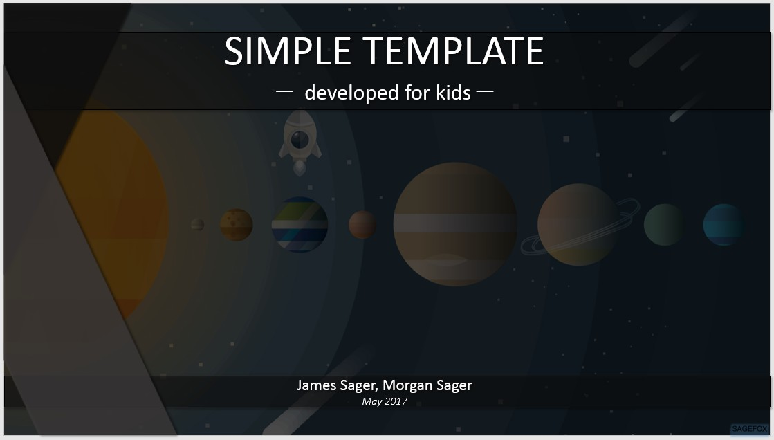 Free simple kids powerpoint solar system cartoon 82685 please share this powerpoint template toneelgroepblik Gallery