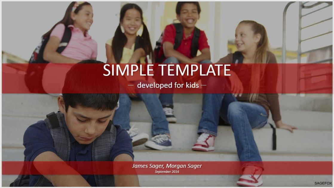 Free simple kids powerpoint school bullying 82695 14130 free please share this powerpoint template toneelgroepblik Images