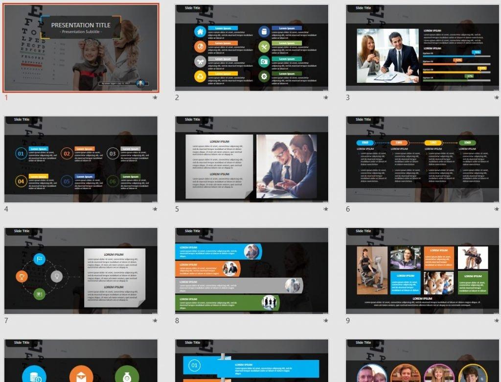 eye test PowerPoint by SageFox