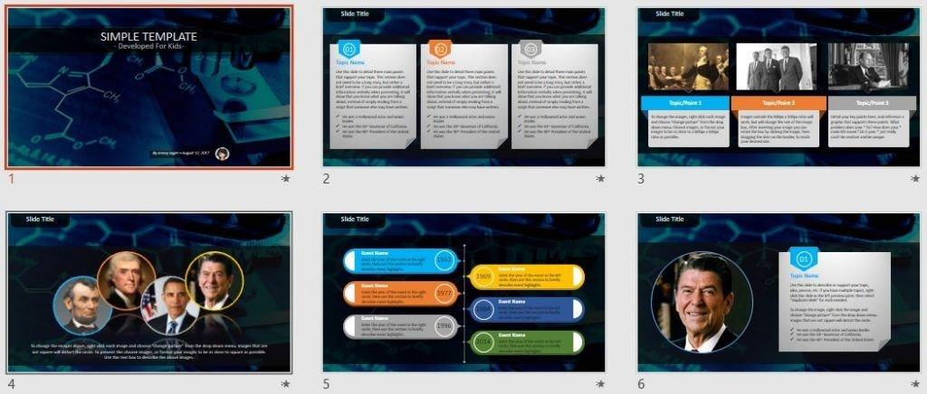 Simple Kids PowerPoint - Science by SageFox