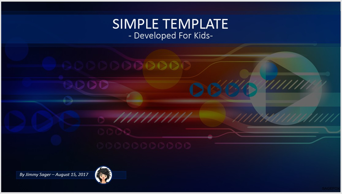 free simple kids powerpoint – high tech #84444 | 13817 free, Modern powerpoint