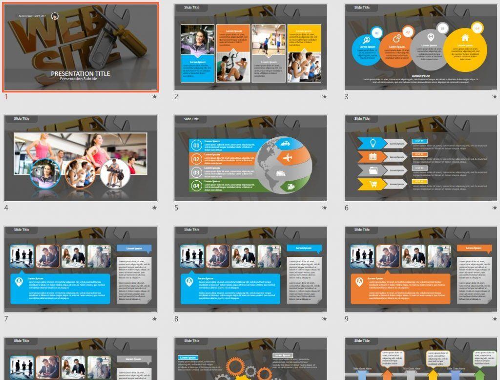 Web design PowerPoint by SageFox