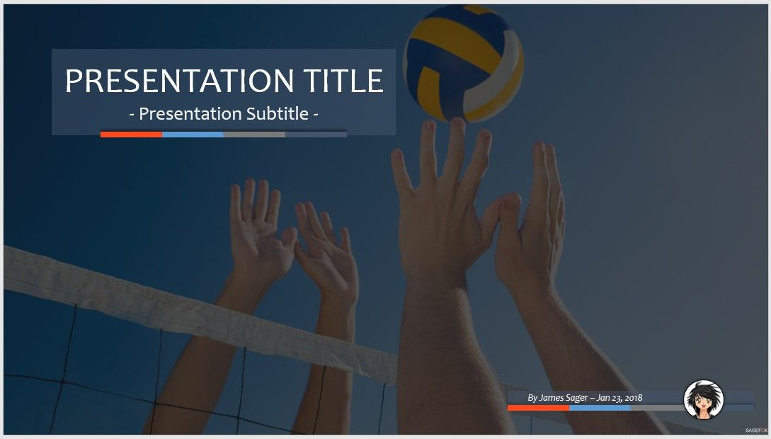 Free volleyball ppt 83703 sagefox powerpoint templates please share this powerpoint template toneelgroepblik Images