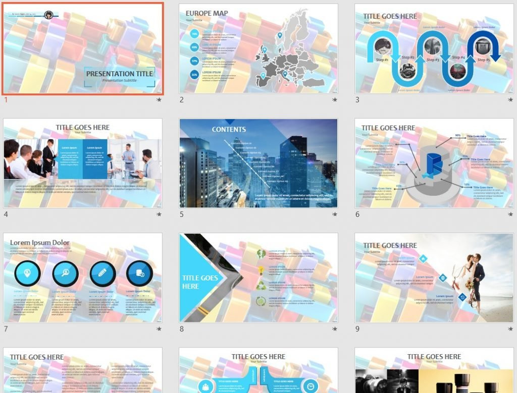 Colorful abstract PPT by SageFox