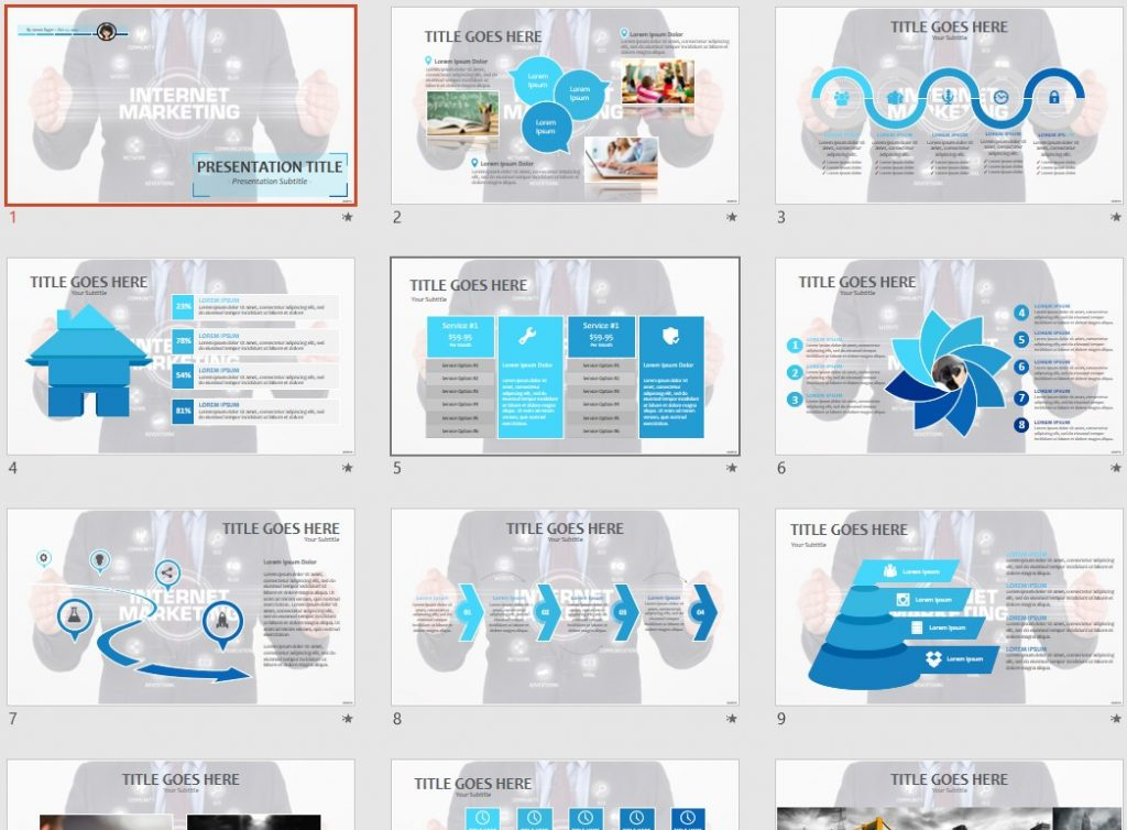 internet marketing PPT by SageFox