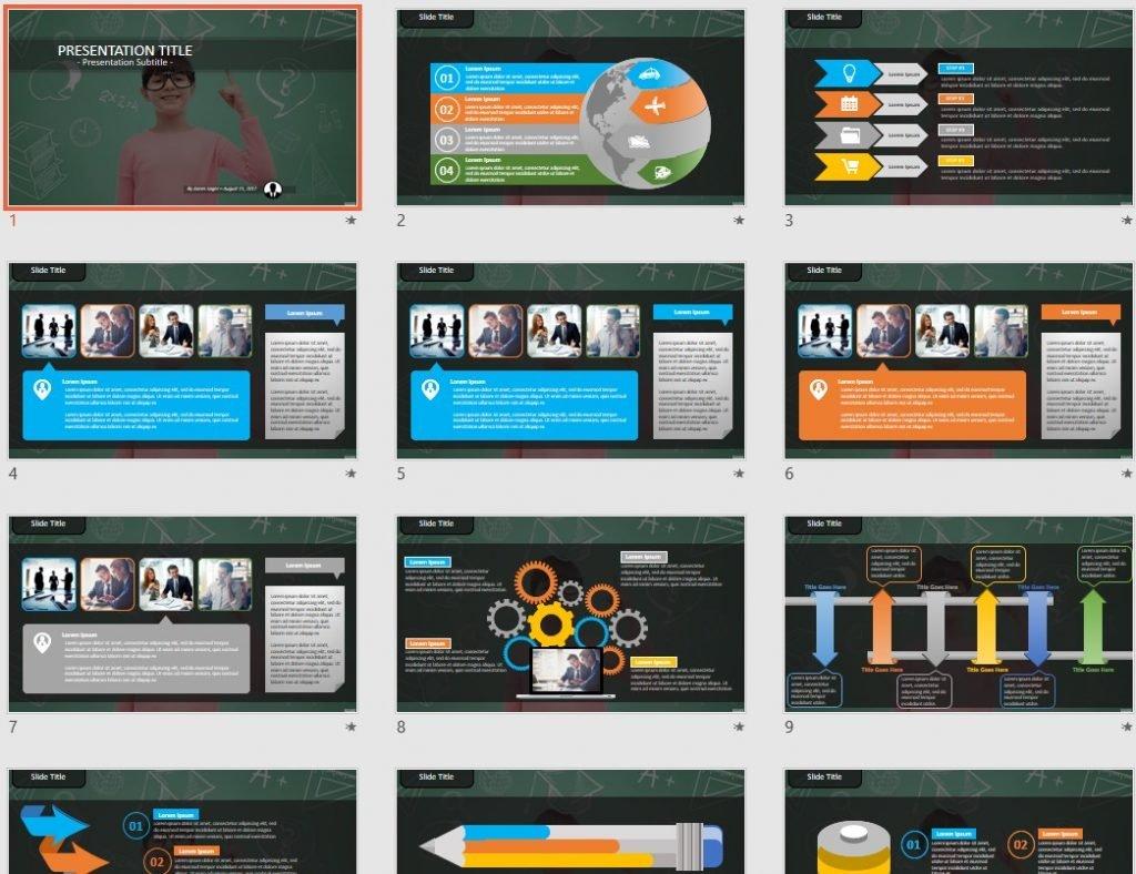 childhood, school, education PowerPoint by SageFox