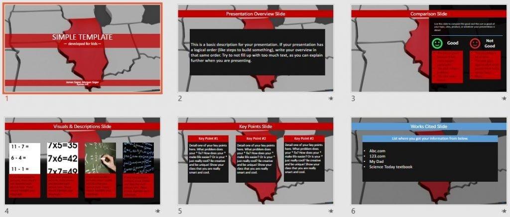 Simple Kids PowerPoint - illinois by SageFox