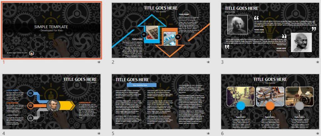 Simple Kids PowerPoint - Idea by SageFox